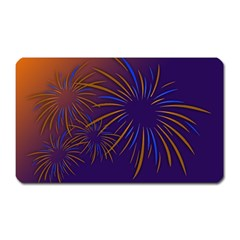 Sylvester New Year S Day Year Party Magnet (rectangular)