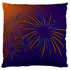 Sylvester New Year S Day Year Party Large Cushion Case (two Sides)
