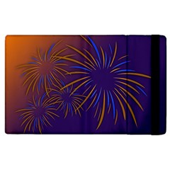 Sylvester New Year S Day Year Party Apple Ipad 3/4 Flip Case