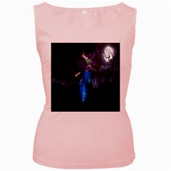 Magical Fantasy Wild Darkness Mist Women s Pink Tank Top by BangZart