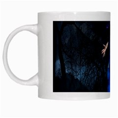 Magical Fantasy Wild Darkness Mist White Mugs by BangZart