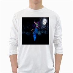 Magical Fantasy Wild Darkness Mist White Long Sleeve T Shirts