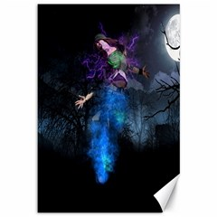 Magical Fantasy Wild Darkness Mist Canvas 12  X 18
