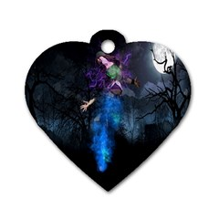 Magical Fantasy Wild Darkness Mist Dog Tag Heart (two Sides) by BangZart