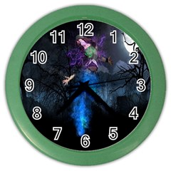 Magical Fantasy Wild Darkness Mist Color Wall Clocks by BangZart