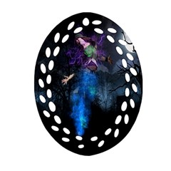 Magical Fantasy Wild Darkness Mist Oval Filigree Ornament (two Sides) by BangZart