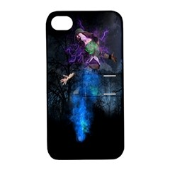 Magical Fantasy Wild Darkness Mist Apple Iphone 4/4s Hardshell Case With Stand