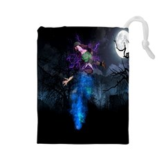Magical Fantasy Wild Darkness Mist Drawstring Pouches (large)  by BangZart