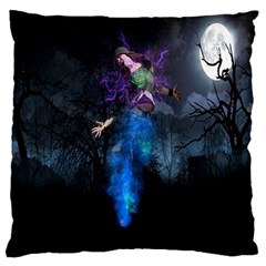 Magical Fantasy Wild Darkness Mist Large Flano Cushion Case (two Sides)