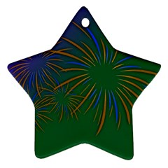 Sylvester New Year S Day Year Party Ornament (star)