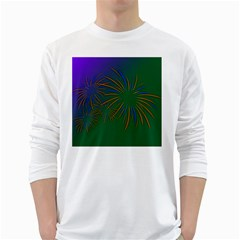 Sylvester New Year S Day Year Party White Long Sleeve T Shirts