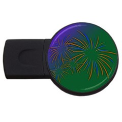 Sylvester New Year S Day Year Party Usb Flash Drive Round (4 Gb)