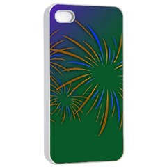 Sylvester New Year S Day Year Party Apple Iphone 4/4s Seamless Case (white)