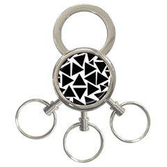 Template Black Triangle 3 Ring Key Chains