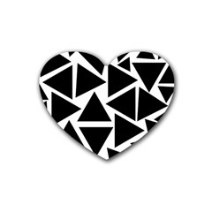 Template Black Triangle Heart Coaster (4 Pack)