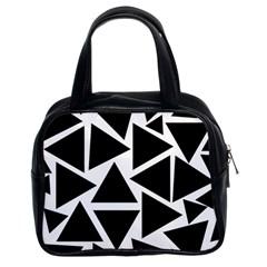 Template Black Triangle Classic Handbags (2 Sides)