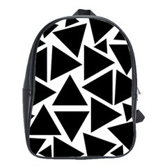 Template Black Triangle School Bag (large) by BangZart