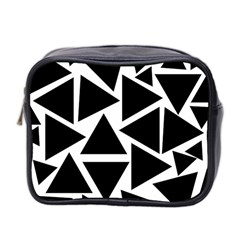 Template Black Triangle Mini Toiletries Bag 2 Side