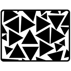 Template Black Triangle Fleece Blanket (large)