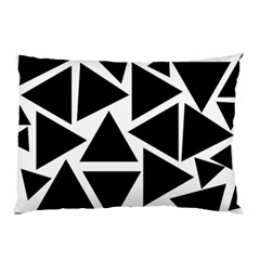 Template Black Triangle Pillow Case (two Sides) by BangZart