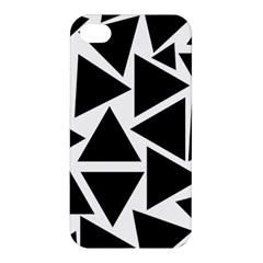 Template Black Triangle Apple Iphone 4/4s Hardshell Case