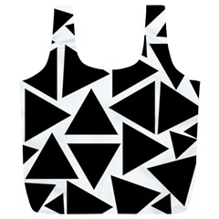 Template Black Triangle Full Print Recycle Bags (l)