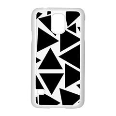 Template Black Triangle Samsung Galaxy S5 Case (white)