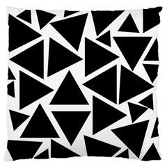Template Black Triangle Large Flano Cushion Case (two Sides)