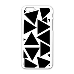 Template Black Triangle Apple Iphone 6/6s White Enamel Case by BangZart