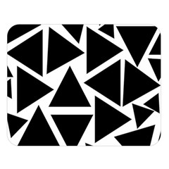 Template Black Triangle Double Sided Flano Blanket (large)