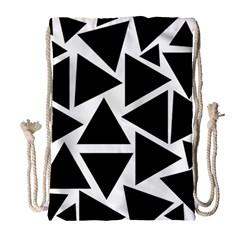 Template Black Triangle Drawstring Bag (large)