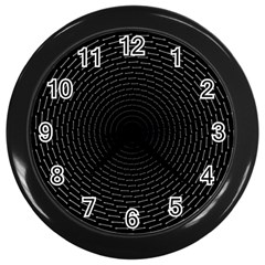 Q Tips Collage Space Wall Clocks (black)