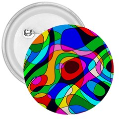 Digital Multicolor Colorful Curves 3  Buttons