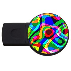 Digital Multicolor Colorful Curves Usb Flash Drive Round (4 Gb)