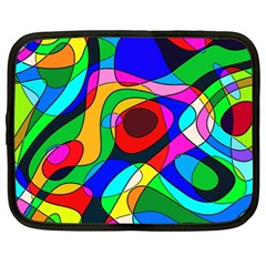 Digital Multicolor Colorful Curves Netbook Case (large)