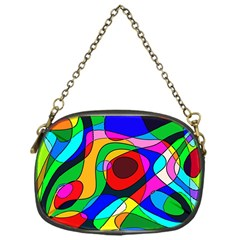 Digital Multicolor Colorful Curves Chain Purses (one Side)