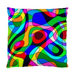 Digital Multicolor Colorful Curves Standard Cushion Case (one Side)