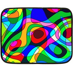 Digital Multicolor Colorful Curves Double Sided Fleece Blanket (mini)