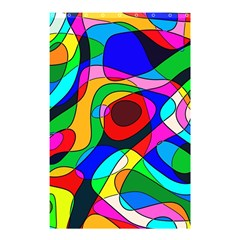 Digital Multicolor Colorful Curves Shower Curtain 48  X 72  (small)