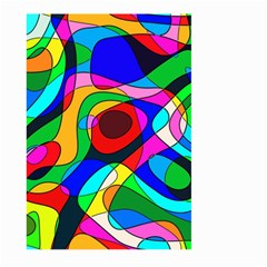 Digital Multicolor Colorful Curves Large Garden Flag (two Sides)