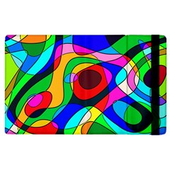 Digital Multicolor Colorful Curves Apple Ipad 3/4 Flip Case by BangZart