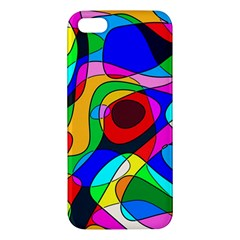 Digital Multicolor Colorful Curves Apple Iphone 5 Premium Hardshell Case