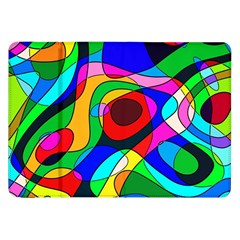 Digital Multicolor Colorful Curves Samsung Galaxy Tab 8 9  P7300 Flip Case by BangZart