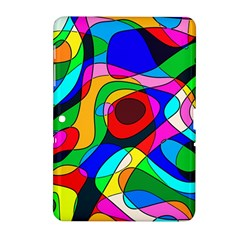Digital Multicolor Colorful Curves Samsung Galaxy Tab 2 (10 1 ) P5100 Hardshell Case