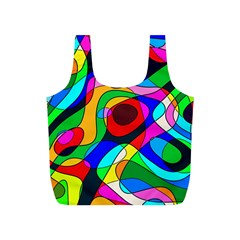 Digital Multicolor Colorful Curves Full Print Recycle Bags (s)
