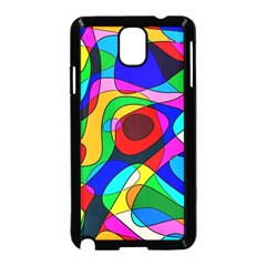 Digital Multicolor Colorful Curves Samsung Galaxy Note 3 Neo Hardshell Case (black)