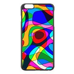 Digital Multicolor Colorful Curves Apple Iphone 6 Plus/6s Plus Black Enamel Case