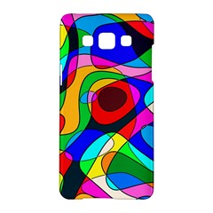 Digital Multicolor Colorful Curves Samsung Galaxy A5 Hardshell Case