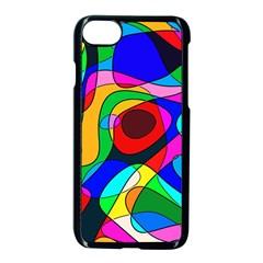 Digital Multicolor Colorful Curves Apple Iphone 7 Seamless Case (black)