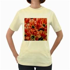Tulips Flowers Spring Women s Yellow T Shirt